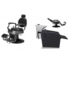Paketpris 2 x Barber Chair TOM 1 x Schamponering ASTON