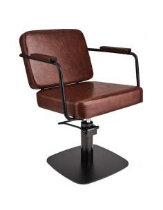 Kundstol ENZO med svart base Barber Made in Europe