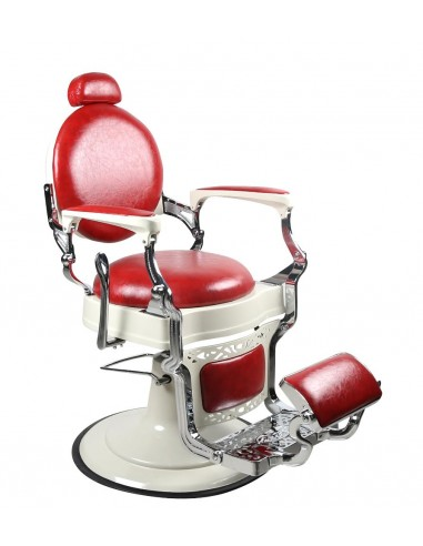 Barber Chair TOM in Rot Vintage