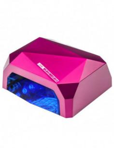 LAMP DIAMOND 2in1 UV LED + 36W CCFL + TIMER SENSOR ROSA
