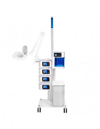 Multi enhet - Ultrasonic/ Mikroderm/Kavitationspeeling /Sonophorese /Iontophorese/D'arsonval /Vapzon / Lupplampa