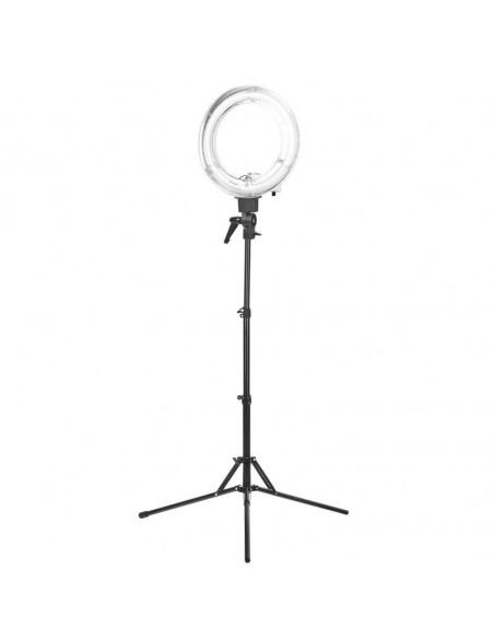 """Ring LAMPA ljusringen Perfect Light 12 """"35W fluorescerar WHITE + STAND"""