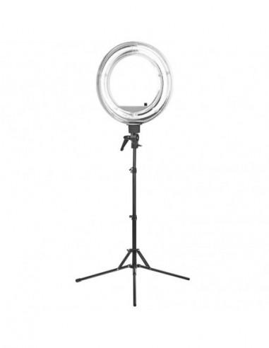 "Ring LAMP ljusringen Perfect Light 18 ""55W fluorescerar WHITE + STAND"